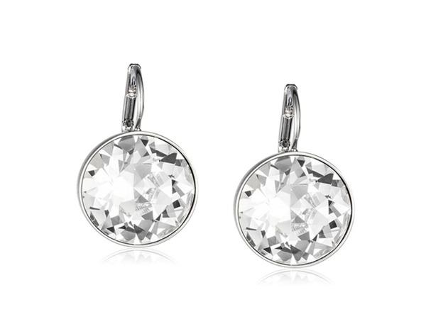 a5a6c1a4d Hot Bella White Crystal Clip On Earrings For Women Stud Earrings Real  Crystal From SWAROVSKI Element Fashion Jewelry Accessories
